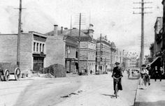 Granville Street looking north from about Dunsmuir Street 1900 - City of Vancouver Archives
