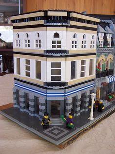 lego modular   Lego Custom Modular Bank Corner #modular #bank #corner