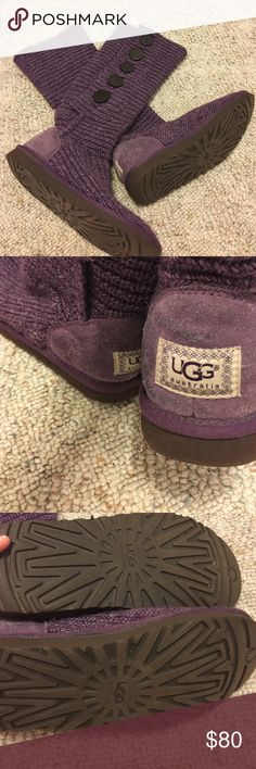 Purple ugg boots Very  cute UGG boots only worn a few times.  Sorry no trades them only negotiate price through the offer button UGG Shoes Winter & Rain Boots