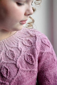 Dancing Leaves Sweater by Pelykh Natalie - Ravelry Pattern | Stunning cables encircle the neckline of this light, delicate pullover worked in stockinette.