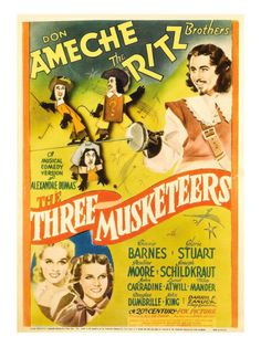 The Three Musketeers (1939) movie poster