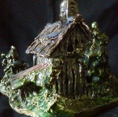 Barn, back view, by Dave the Potter