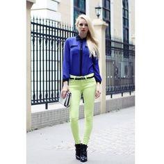 Autumn 2012 Women New Style Cotton Green Stretch Slim Pencil Casual... ($23) via Polyvore