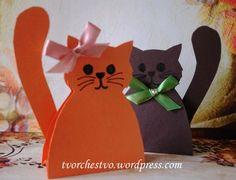 Поделки из бумаги: котята