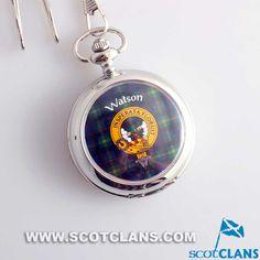 Watson Clan Crest Pocket Watch