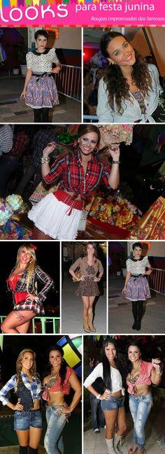 roupas improvisadas para festa junina