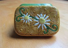 Altered Altoids Mini Smalls tin Polymer Filigree by ColorfulClay, $11.00
