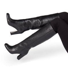 high heel boots over the knee Black Knee High Boots Outfit, Over The Knee Boot Outfit, High Leather Boots, Black High Heels, High Heel Boots, Black Boots, Heeled Boots, Brown Boots, Beige Boots