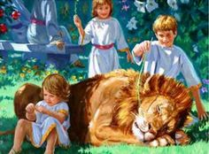 Even children will will have nothing to fear...neither this beautiful lion nor people who are vicious like the lion.