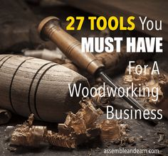 If you are like most woodworkers, you will end up with a few large machine tools, some smaller ones and a collection of much-needed hand tools. However, the tools you should have in your wood shop (especially if you are starting afresh) depends a lot on t Must Have Woodworking Tools, Woodworking Shows, Must Have Tools, Easy Woodworking Projects, Popular Woodworking, Woodworking Furniture, Diy Wood Projects, Fine Woodworking, Woodworking Techniques