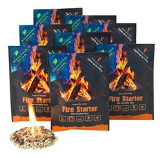 Instafire Fire Starter Pouches, Durable Mylar Packs Lights up to 4 fires, No Harmful Chemicals, ECO Friendly - Use at Campfire, Fireplace, Cooking, Charcoal, Emergency, Instafire http://www.amazon.com/dp/B008Y5A1B6/ref=cm_sw_r_pi_dp_F96avb1R751X1