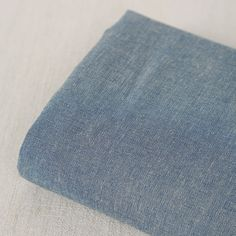 8oz 150cm / 59 inch Width Vintage Gray Blue Denim Fabric by JWHouse