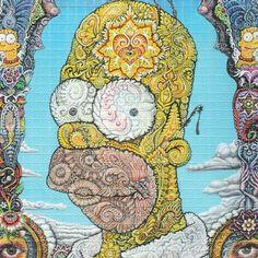 Homer psychédélique buvard Art par shakedowngallery sur Etsy