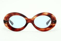 Massive oval vintage sunglasses of the 60s in havanna brown by UVEX N72K