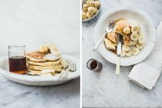 Ricotta hotcakes with honeycomb butter. Click link for these deliciously relaxed Aussie-style recipes.