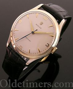 A large 9ct gold round vintage Rolex Precision watch, 1959