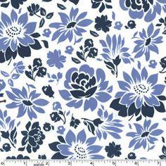 Secret Garden Midnight Picnic Flowers Michael Miller Fabrics by Sandi Henderson 1 Yard