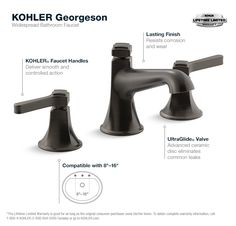 Georgeson Oil-Rubbed Bronze Widespread Bathroom Faucet