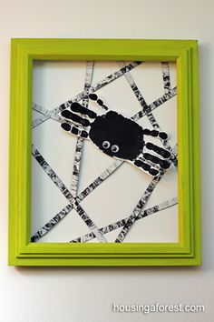 Handprint Spider - could also do with a paper plate and black yarn.
