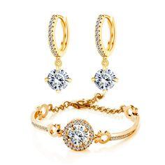 Купить 2016 Модный Бренд Свадебные Ювелирные Изделия Указан 18 К Позолоченные…