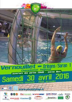 """30/04/2016 Match de """"Water-polo #Vernouillet - #Orléans"""