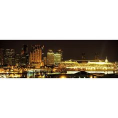 Cruise ships at Honolulu Harbor Honolulu Oahu Hawaii Islands Hawaii USA Canvas Art - Panoramic Images (6 x 18)