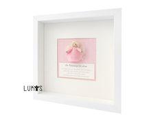 Taufgeschenke, Babygeschenke, Geschenke Geburt, Schutzengel Bild, Geschenk zur Geburt Schutzengel Filzengel Holzkopf rosa
