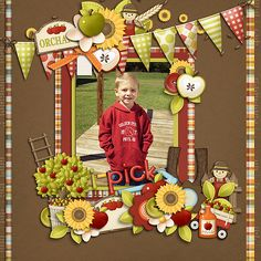 I Pick You - Scrapbook.com - Love this fall layout! #scrapbooking #digital #fall…