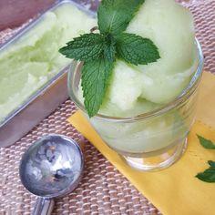 Honeydew Melon Sorbet Recipe http://cleanfoodcrush.com/honeydew-melon-sorbet/