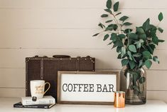 LOVE this for our coffee Bar nook