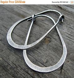 20% OFF Halloween Sale Gunnysack Hoops - oxidized stelring silver oblong hoops by LisasLovlies on Etsy https://www.etsy.com/listing/61541444/20-off-halloween-sale-gunnysack-hoops