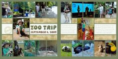 2 page scrapbook layout zoo - Google Search