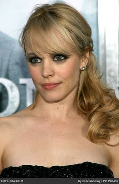 "Rachel McAdams - ""Sherlock Holmes"" New York Premiere. Considering getting actual bangs like this next time I get my hair cut instead of sideswept ones."