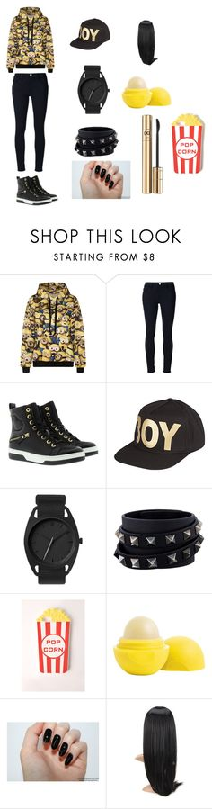 """""""Whos up for the movie"""" by minionlover710 on Polyvore featuring Frame Denim, Love Moschino, BOY London, Valentino, Missguided, Eos and D&G"""