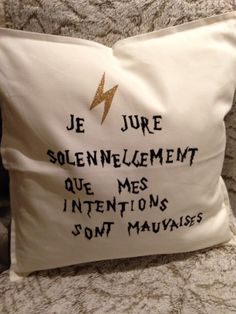 I solemnly swear that I am up to no good...in French!