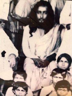 Paramahansaji (with beard) with students at Ranchi - - -Jai Guru  ---- pranams to my Master - Christ Yogi  from India - to America - to the world