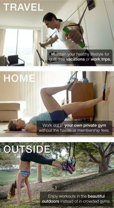 TRAVEL || HOME || OUTSIDE - Introducing the world's most versatile fitness device. Epic workouts anywhere you live, travel, run, dream.