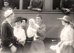 Army, U.S. Return 1919.  I love all the different facial expressions in this picture.  Truly an eternal snapshot of a moment in time.