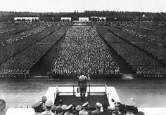 Hitler's Nazi party convention is underway in Nuremberg, Germany, September 1935 Nuremberg Rally, Germany Ww2, Nuremberg Germany, The Third Reich, World History, History Pics, European History, World War Two, Historical Photos