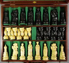 Vintage Lowe Chess Set in Original Case 1950s Board Game EUC #Lowe