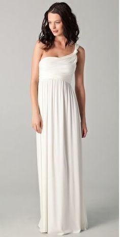 One shoulder wedding gown $233