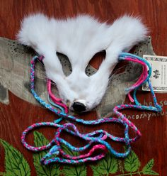White fox taxidermy mask by Lupa. Available at http://thegreenwolf.etsy.com