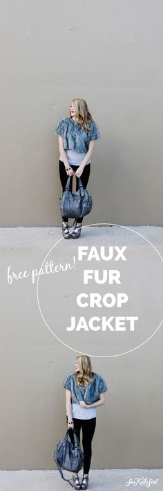 Faux Fur Cropped Jacket Tutorial with FREE Pattern!