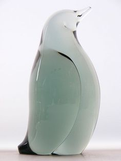 Whitefriars ocean green glass penguin
