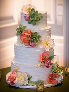 Featured Photographer: River bend Studio; Delightful Daily Wedding Cake Inspiration. To see more: http://www.modwedding.com/2014/07/15/delightful-daily-wedding-cake-inspiration/  #wedding #weddings #wedding_cake Featured Wedding Cake: Amy Beck Cake Design; Featured Photographer:  River bend Studio