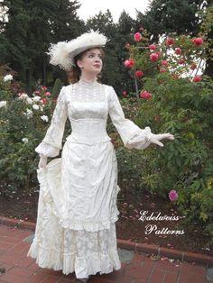 Mary ingalls costume prairie costume ready to ship for Laura ingalls wilder wedding dress