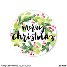 Get your hands on great customizable Merry Christmas stickers from Zazzle. Merry Christmas, Christmas Items, Diy Christmas Ornaments, Christmas Stickers, Christmas Printables, Happy Photos, Pencil And Paper, Xmas Party, Winter Theme