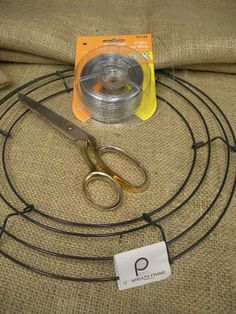 How to make your own Burlap Wreath