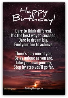 newly inspirational birthday wishes and inspirational birthday poems unique poems for birthdays 18 inspirational birthday wishes for son Birthday Wishes Messages, Birthday Card Sayings, Best Birthday Wishes, Happy Birthday Quotes, Birthday Cards, Funny Birthday Poems, Birthday Ideas, Birthday Pictures, Birthday Images