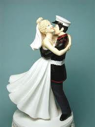 Military USMC Marine Corps Wedding Cake Topper Bride uniform ...